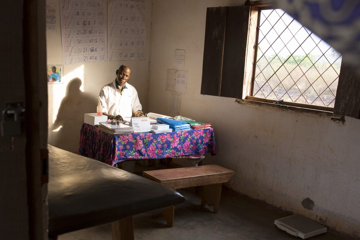 A doctor in a health center in CAR