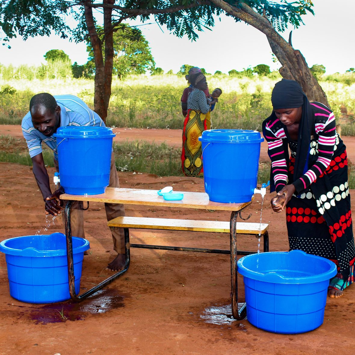 Handwashing station in Malawi