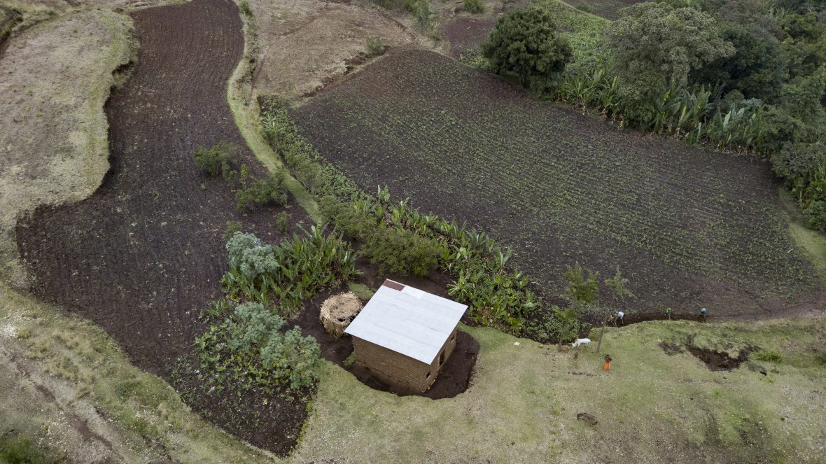 An Ethiopian fram from above