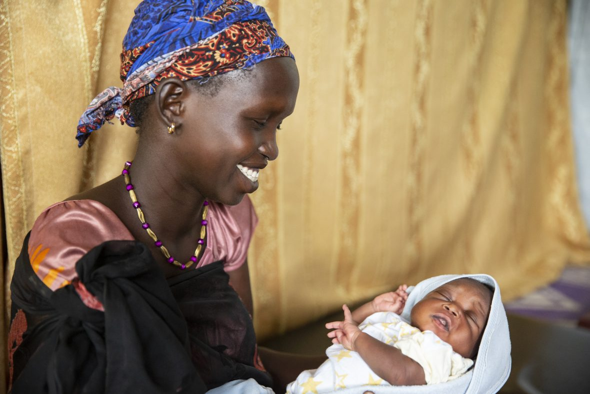 Mother with newborn in Ethiopia