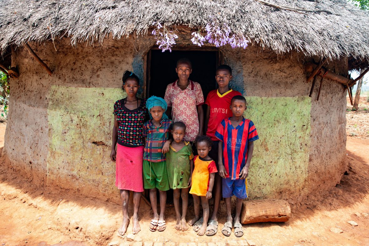 A family in Ethiopia